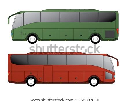 Città bus coach auto rosso trasporto Foto d'archivio © leonido