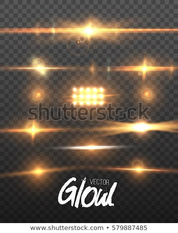 Set of colorful light spots with lens flare Stock photo © Arsgera