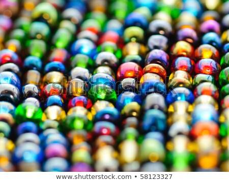 カラフル · ビーズ · 市場 · 宝石 · 美しい · 結晶 - ストックフォト © rhamm