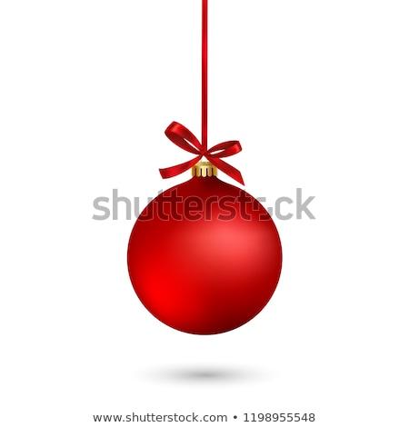 Noel dekoratif kırmızı parlak yalıtılmış Stok fotoğraf © jeliva