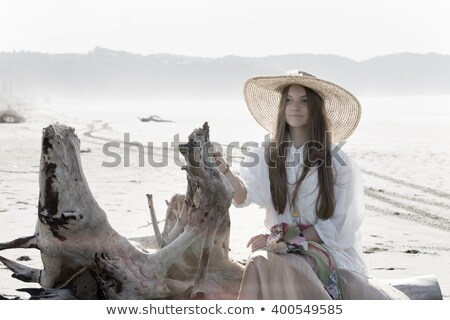 Moda kız yüksek anahtar sahne Stok fotoğraf © fotoduki