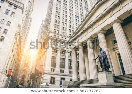Stock photo: New York Federal hall Memorial George Washingto