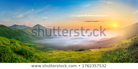 View from mountain to the valley  Stock photo © CaptureLight