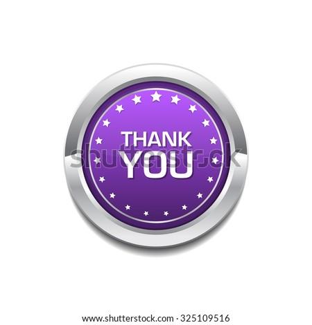 thank you purple circular vector button stock photo © rizwanali3d