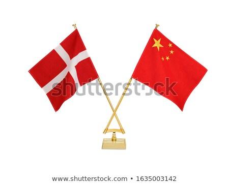 China Dinamarca miniatura banderas aislado blanco Foto stock © tashatuvango