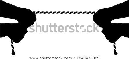 Hands pulling rope Stock photo © Valeriy