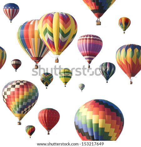 colorful hot air balloon isolated against white stock photo © balefire9