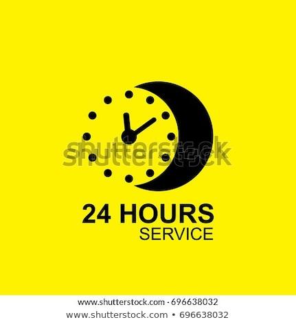24 abrir amarelo vetor ícone projeto Foto stock © rizwanali3d