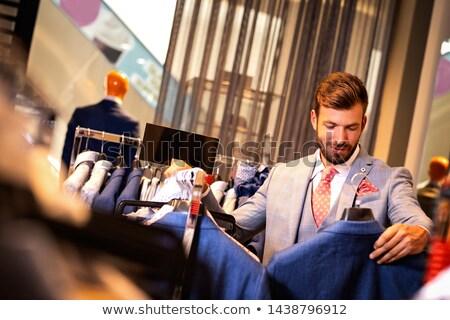 Foto stock: Hombre · comprar · empate · compras · empresario · mercado