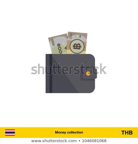 Tailandés dinero cartera stock foto Foto stock © nalinratphi