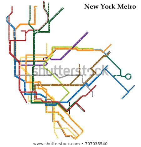 New · York · métro · carte · métro · métro · tube - photo stock © claudiodivizia