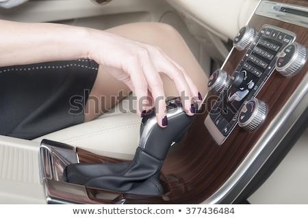Female driver hand shifting gear manually Stock photo © stevanovicigor