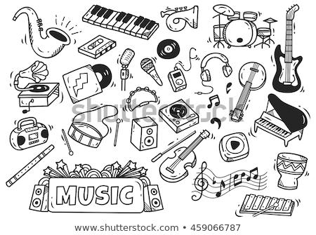 Banjo sketch icon. Stock photo © RAStudio
