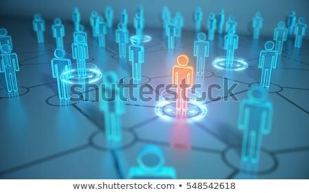 Rede diferente indivíduos rosa negócio fundo Foto stock © bluering