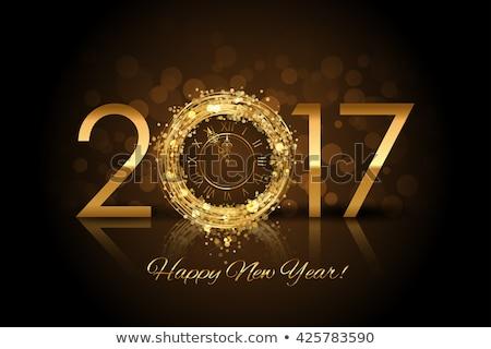 shiny new year 2017 background with fireworks Stock photo © SArts