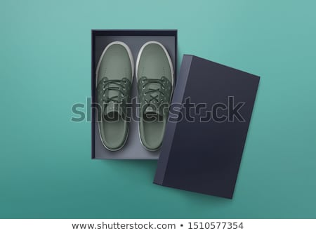 Zapatos cuadro simple negocios belleza negro Foto stock © biv