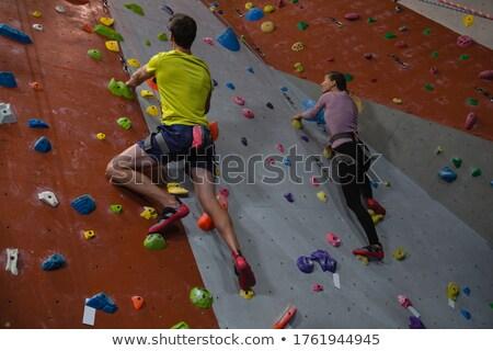 скалолазание · стены · фон · горные · поезд · подготовки - Сток-фото © wavebreak_media