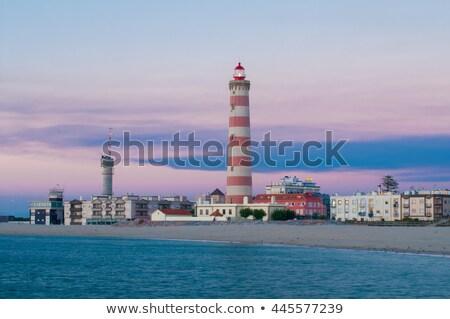 Lighthouse in Aveiro, Portugal Stock photo © homydesign