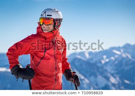 Férfi síelő hó kabát férfi természet Stock fotó © IS2
