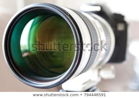 Teleobjektív lencse fekete profi makró hangszer Stock fotó © tarczas