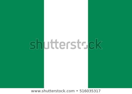 bandera · Nigeria · cielo · azul · nubes · sol · verde - foto stock © gravityimaging