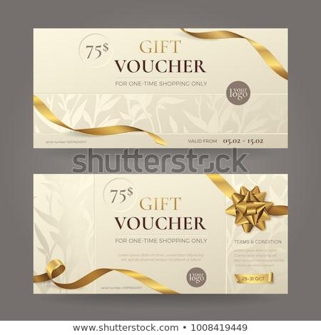 Ajánlat vásár szalag ajándék utalvány árengedmény Stock fotó © SArts