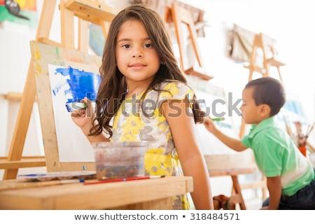 Girl in art class Stock photo © IS2