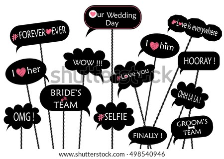 Photo booth props for weddings, party. Stock photo © AisberG