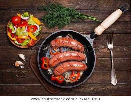 Rustico pan salsicce carne Foto d'archivio © zkruger