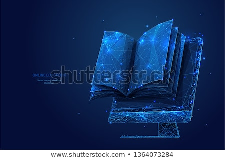 Electronic Library Computer Vector Illustration Stock photo © robuart