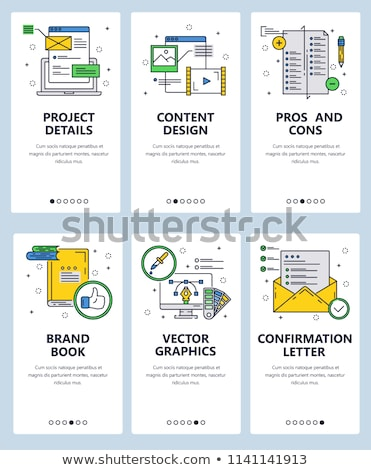 Carta símbolo objeto ícone estilo projeto Foto stock © Linetale