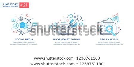Seo Start Up and Finance Set Vector Illustration Stock photo © robuart