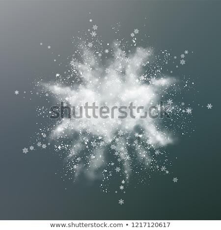 Abstract sneeuw explosie vector ontwerp witte Stockfoto © kostins