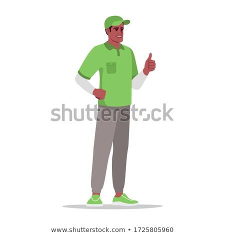 Mensajero gerente uniforme pie nombre Foto stock © robuart