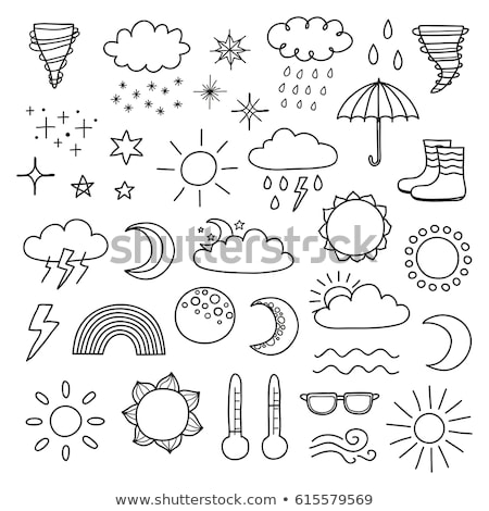 Cloudy and the wind hand drawn outline doodle icon. Stock photo © RAStudio