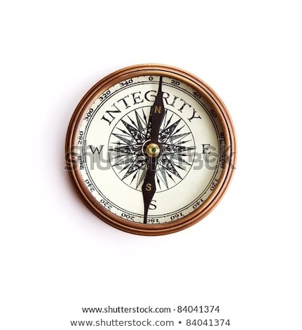 compass on white background support concept stock photo © make