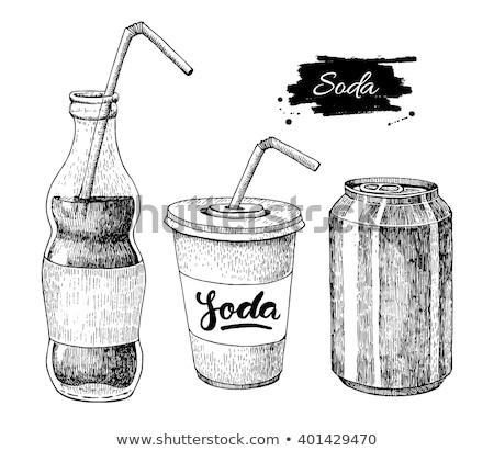 Kroki soda cam plastik yalıtılmış beyaz Stok fotoğraf © netkov1