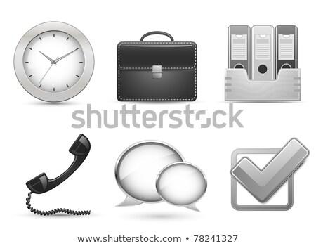Office icons, set of plastic folders, vector illustration. Stock photo © kup1984
