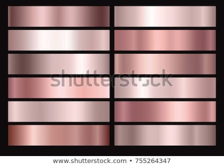 закрывается золото розовый металлический градиенты набор Сток-фото © SArts