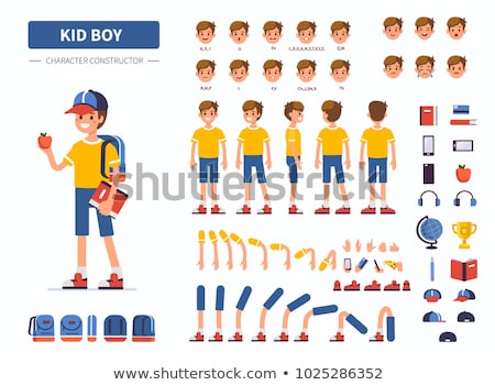vector set of boy face Stock photo © olllikeballoon