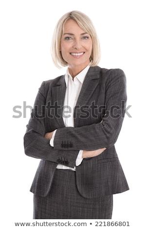 Bastante negocios retrato aislado Foto stock © filipw