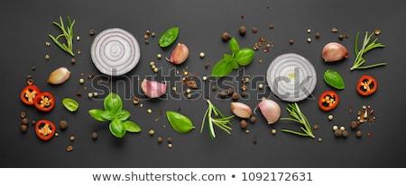 Vers rosmarijn kruid zwarte top Stockfoto © marylooo