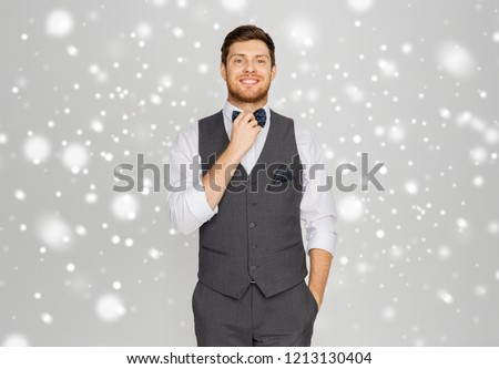 Gelukkig man feestelijk pak dressing partij Stockfoto © dolgachov