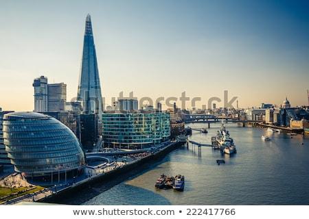 Londen · schemering · Engeland · zonsondergang · kerk · stedelijke - stockfoto © vichie81