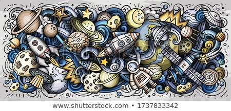 Science hand drawn vector doodles illustration. Poster design. Stock photo © balabolka