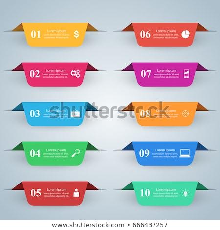 Iş infographics origami stil 3D Stok fotoğraf © rwgusev
