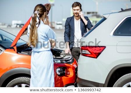 二人の男性 車 事故 クローズアップ ダメージ ストックフォト © AndreyPopov