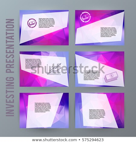 Brochure of Earning Money, Eps Booklet Vector Stock photo © robuart