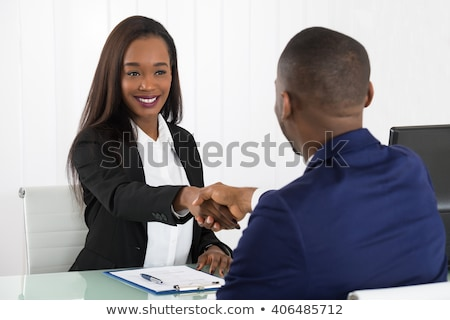 African American Recruiter Shaking Hands Stock photo © AndreyPopov