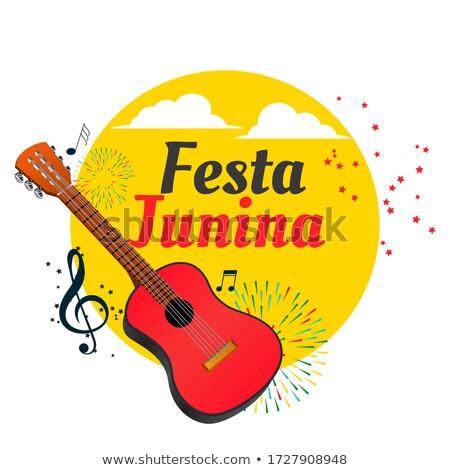 Brasil festival guitarra diseno fondo vacaciones Foto stock © SArts